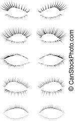 eyelashes, set