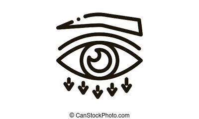 eyelid plastic surgery Icon Animation. black eyelid plastic surgery animated icon on white background