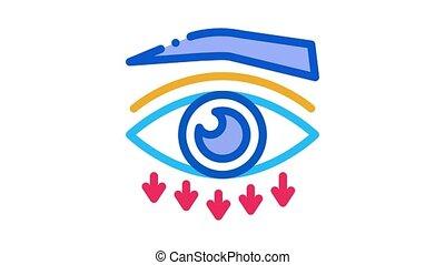 eyelid plastic surgery Icon Animation. color eyelid plastic surgery animated icon on white background
