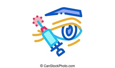 eyelid surgery local anesthesia Icon Animation. color eyelid surgery local anesthesia animated icon on white background