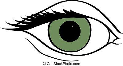 eyes., astratto, simbolico
