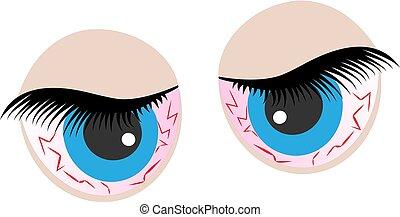 Eyes cartoon icon. Bad emotions. Angry