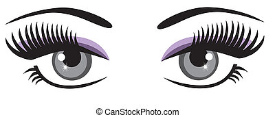 eyes - vector eyes with long lashes