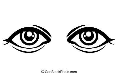 Eyes design over white background, vector illustration