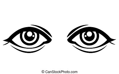 Eyes design over white background, vector illustration