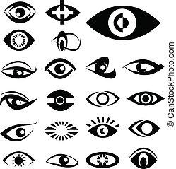 Eyes designs vector