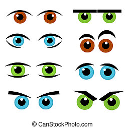 Eyes emotion collection - Set of various funny eyes -...