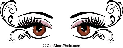 eyes floral brown