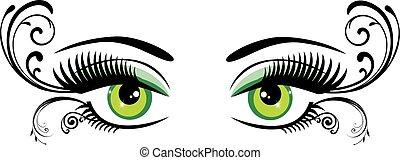 eyes floral