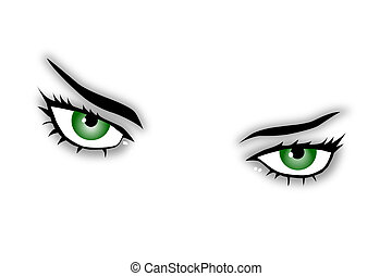 eyes, groene