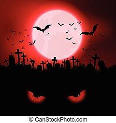 eyes, halloween, kwaad, achtergrond
