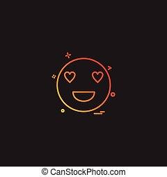eyes heart smiley emoji icon vector design