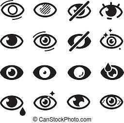 Eyes icon. Optical care symbols eyesight vision cataract ...