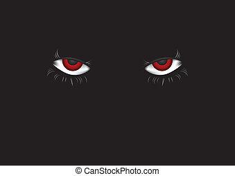 Eyes in dark