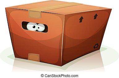 Eyes Inside Cardboard Box