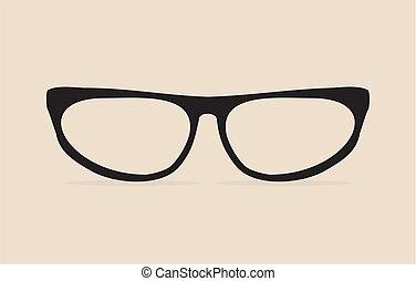 eyes, kat, geek, vector, black , bril