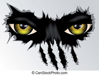 eyes look - evil yellow eyes animal looking. 10 EPS