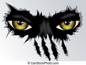evil yellow eyes animal looking. 10 EPS