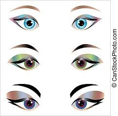 eyes., mulher