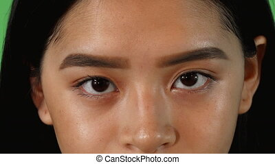 Eyes of a beautiful Asian woman looking to the camera