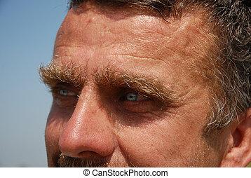 eyes of man