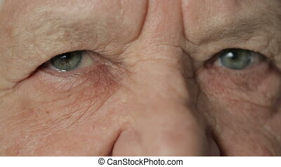 Eyes of old woman