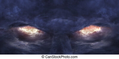 Eyes of the devil - A picture of stormy clouds that formed...