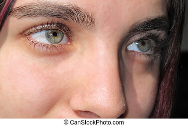 Eyes of young woman