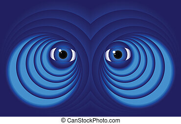 Eyes on a blue background