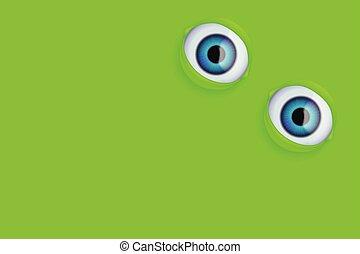 eyes on green