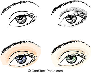 Eyes pattern set