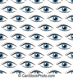 Eyes seamless pattern