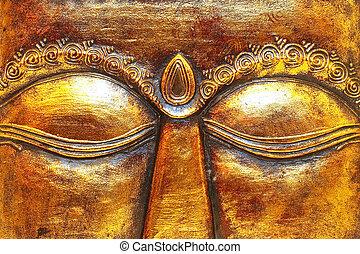 Eyes - Close up shot of golden Shiva eyes
