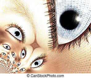 Eyes - Kaleidoscopic Collage of digital Eyes