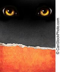 eyes, textuur, verticaal, papier, achtergrond, oud, monster