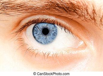 Eyes - The man's eyes, close-up