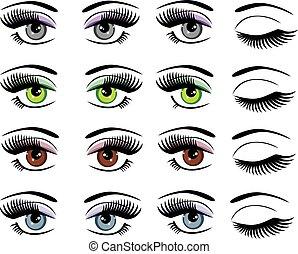 eyes - vectot set of eyes