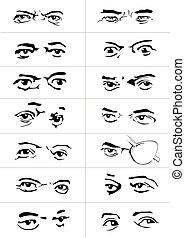 eyes with emotions1 - different gestures and emotions of a ...