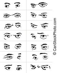 eyes with emotions2 - different gestures and emotions of a...