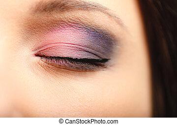 eyeshadow , γυναίκα άποψη , detail., μακιγιάζ , ζεσεεδ , τμήμα