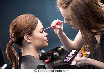 eyeshadow , διαρρύθμιση , εφαρμοσμένος , καλλιτέχνηs