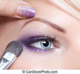 eyeshadow, 構造, 適用, 芸術家