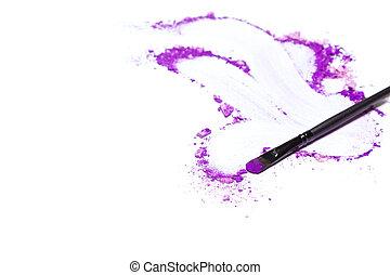 eyeshadow, auge verfassung, hintergrund, violett, poppig, ultra