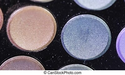 Eyeshadow Palette - Rotating colored eye shadow palette for...
