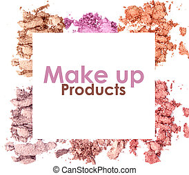 Eyeshadow set isolated on white