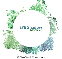 Eyeshadow set isolated on white