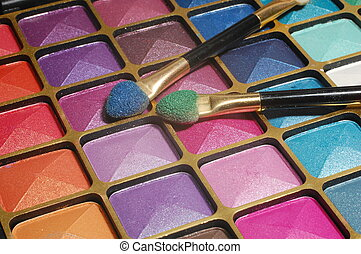 Eyeshadow  set - Make up, close up, shining eyeshadow