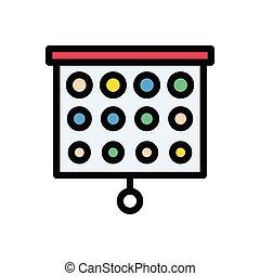 eyesight flat color icon