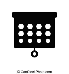 eyesight glyph flat icon