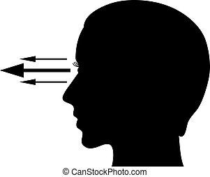 Eyesight vector symbol isolated on white background